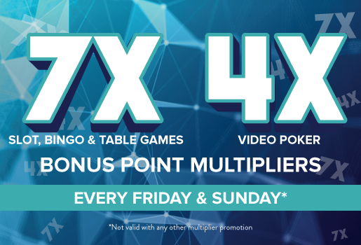 7x and 4x BONUS POINT MULTIPLIERS